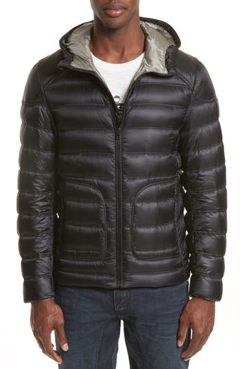 Belstaff Fullarton Hooded Down Jacket, Black
