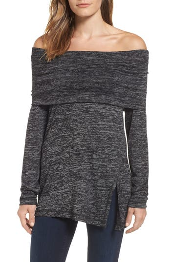 Michael Stars Off The Shoulder Knit Top, Size One Size - Black