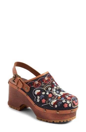 See By Chloe Tasha Embroidered Clog, Blue