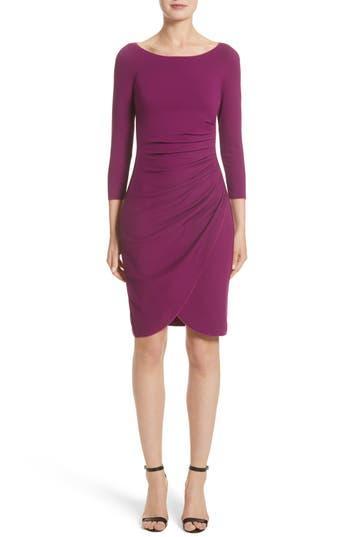 Women's Armani Collezioni Milano Jersey Petal Hem Dress, Size 8 - Purple
