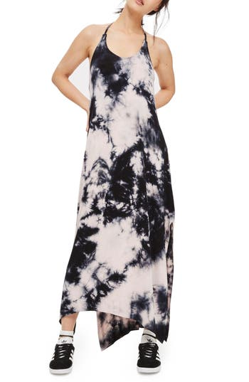 Women's Topshop Tie Dye Halter Maxi Dress