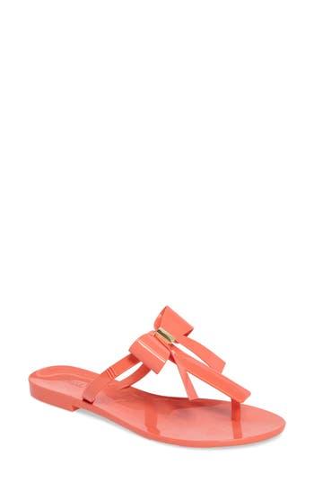 Women's Melissa T-Bar Flip-Flop, Size 7 M - Orange