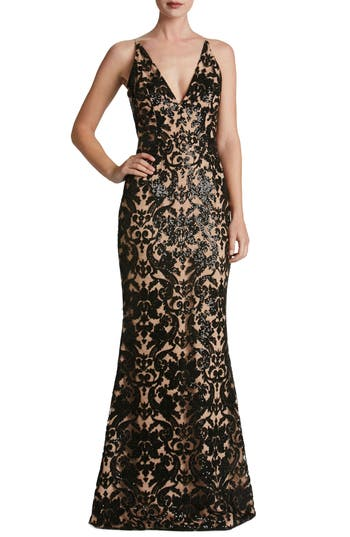 Dress The Population Karen Mermaid Gown, Black