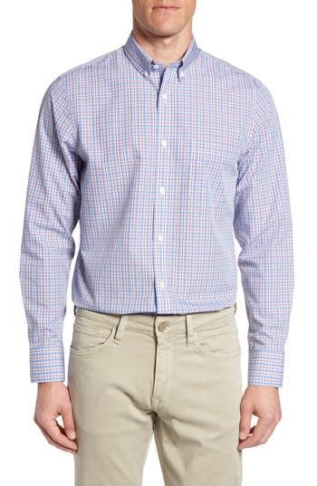 Men's Big & Tall Nordstrom Men's Shop Smartcare™ Regular Fit Windowpane Sport Shirt