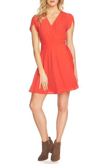 Women's 1.state Wrap Dress, Size X-Large - Red