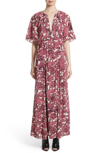Burberry Hallie Silk Dress, Pink