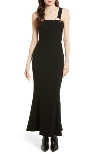 Diane Von Furstenberg One-Shoulder Gown, Black