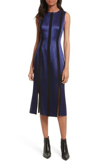 Diane Von Furstenberg Tailored Panel Midi Dress, Purple