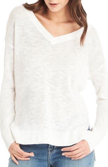 Michael Stars V-Neck Sweater, Grey
