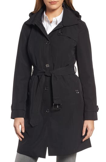 Women's Michael Michael Kors Packable Trench Coat With Hood