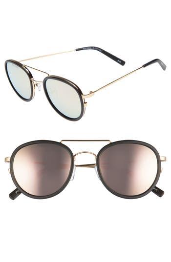 Perverse The Kimberly 55Mm Mirrored Lens Aviator Sunglasses - Black/ Pink