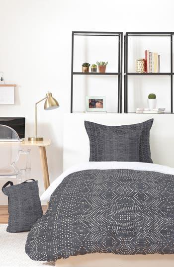 Deny Designs Holli Zollinger Marrakeshi Denim Bed In A Bag Duvet Cover, Sham & Accent Pillow Set, Size King - Grey
