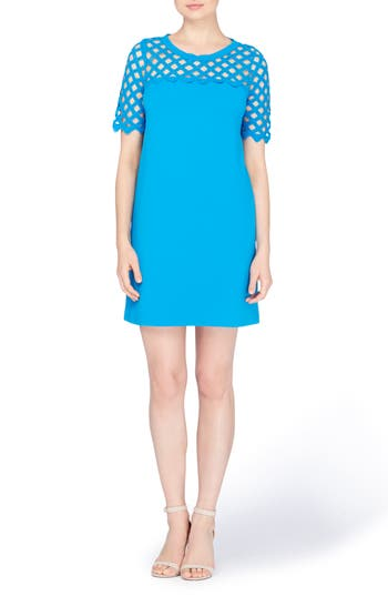 Catherine Catherine Malandrino Rue Lattice Lace Shift Dress