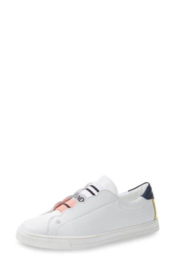 Fendi Rockoclick Slip-On Sneaker - White