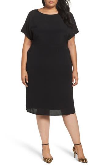 Plus Size Sejour Dolman Sleeve Shift Dress