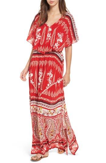 Raga Luisa Ruffle Maxi Dress, Red