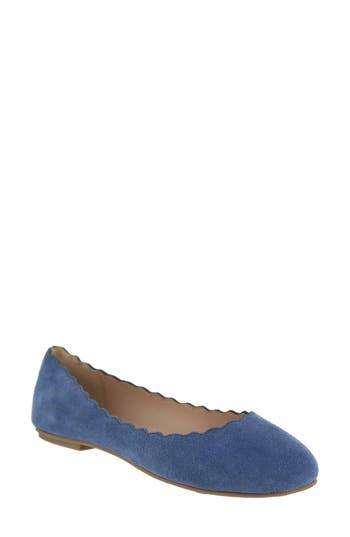 Mia Gianna Scalloped Flat, Blue