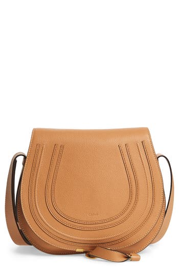 Chloe 'Marcie - Medium' Leather Crossbody Bag - Metallic