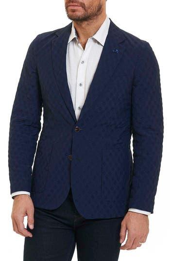 Robert Graham Agoura Hills Water-Repellent Sport Coat, Blue