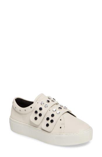 Rebecca Minkoff Natasha Studded Platform Sneaker- White