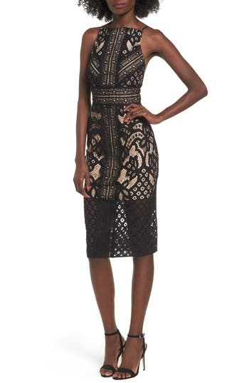 Keepsake The Label Bridges Lace Midi Dress, Black