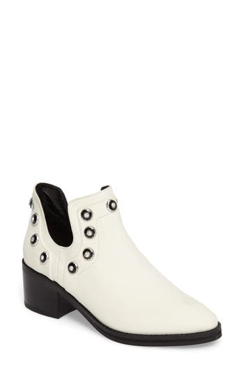 E8 By Miista Odessa Embellished Split-Shaft Bootie - White