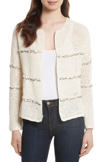 Women's Joie Jacquine Embellished Open Front Cardigan