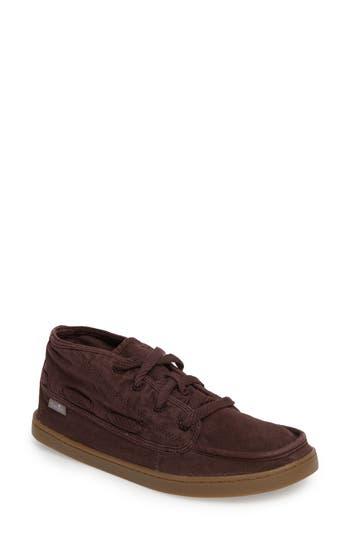 Sanuk Vee K Shawn Mid-Top Sneaker, Brown