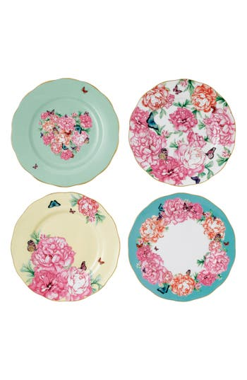 Miranda Kerr For Royal Albert Set Of 4 Assorted Accent Plates, Size One Size - Pink