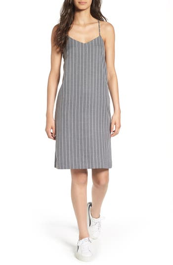 Everly Stripe Slipdress, Grey