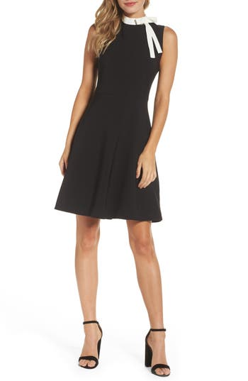 Maggy London Bow Fit & Flare Dress