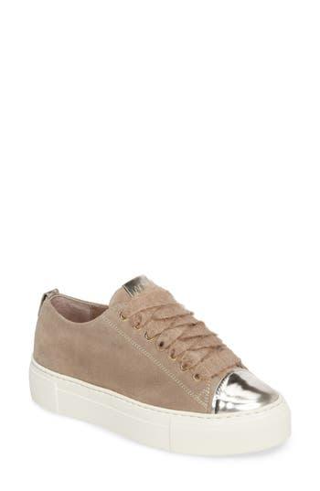 Agl Cap Toe Platform Sneaker, Beige
