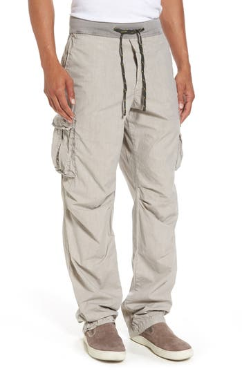James Perse Contrast Waist Cargo Pants, Grey