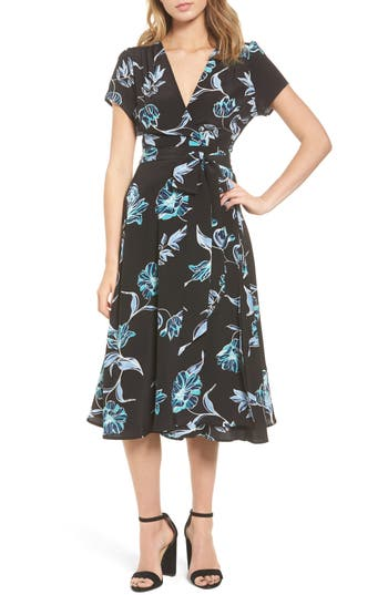 Womens Floral Print Wrap Dress Nordstrom
