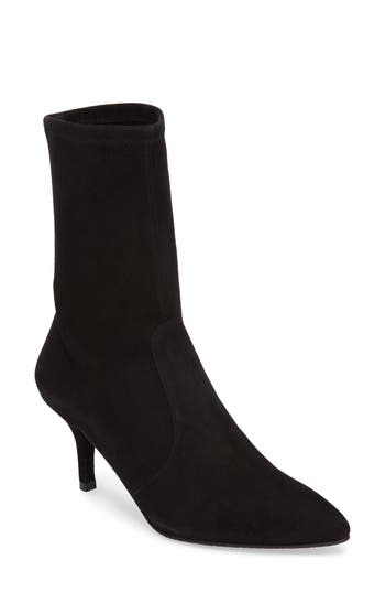 Stuart Weitzman Cling Stretch Bootie, Black