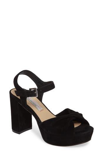 Kristin Cavallari Ryne Twist Toe Platform Sandal- Black
