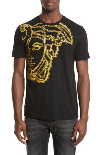 Versace Collection Medusa Graphic T-Shirt, Black