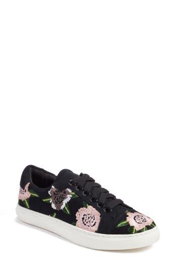 Rebecca Minkoff Bleecker Floral Embroidered Sneaker, Black