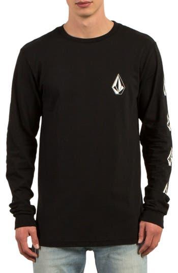 Volcom Deadly Stones Long Sleeve T-Shirt, Black