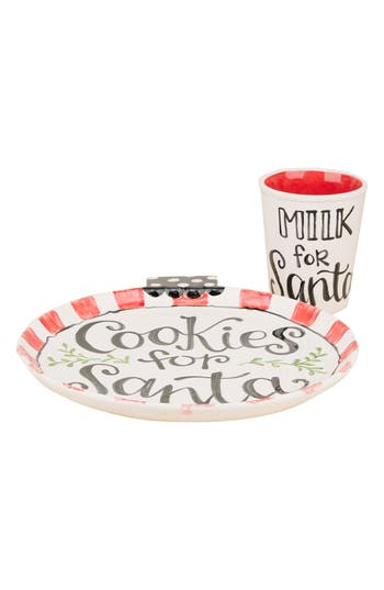 Glory Haus Milk & Cookie For Santa Set, Size One Size - Ivory
