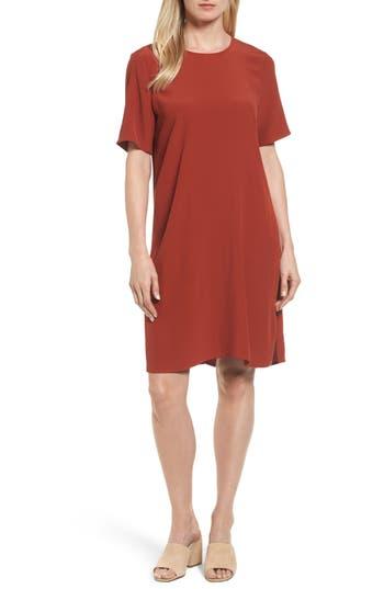 Eileen Fisher Tencel Blend Jersey Shift Dress, Red