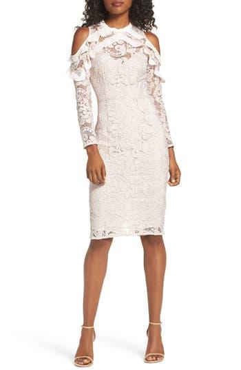 Cooper St Ruffle Lace Sheath Dress, Ivory