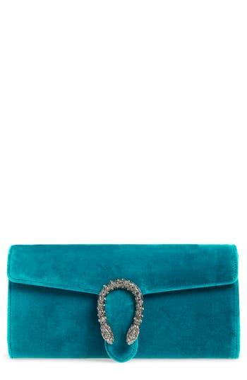 Gucci Dionysus Velvet Clutch - Blue