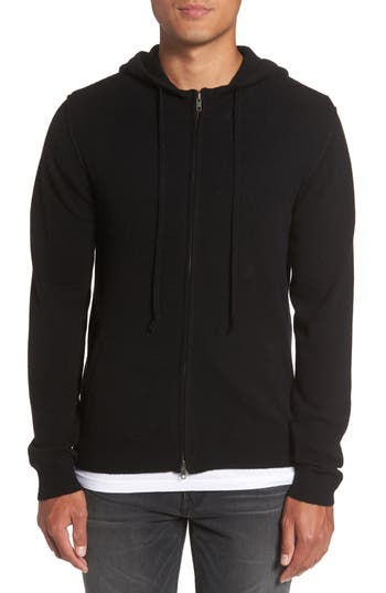 Men's Paige Cason Hooded Zip Sweater, Size Small - Black