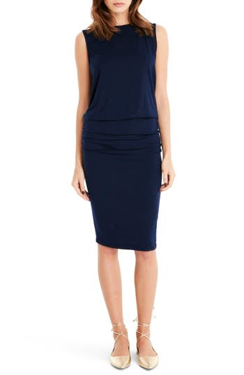 Michael Stars Drape Back Shift Dress, Blue
