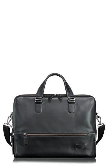 Tumi Harrison Horton Double Zip Leather Briefcase - Black