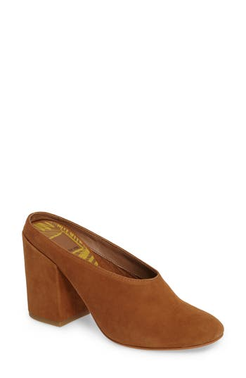 Women's Dolce Vita Caley Block Heel Mule, Size 10 M - Brown