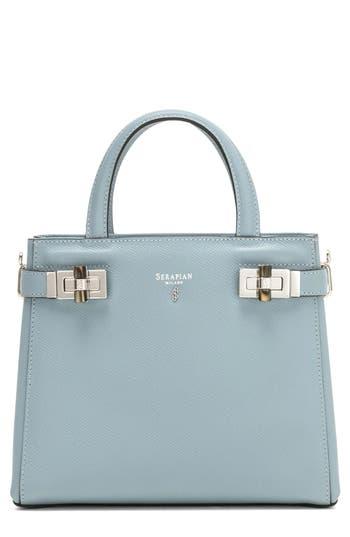 Serapian Milano Mini Meline Evolution Leather Bag - Blue