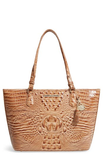 Brahmin 'Medium Asher' Leather Tote - Brown