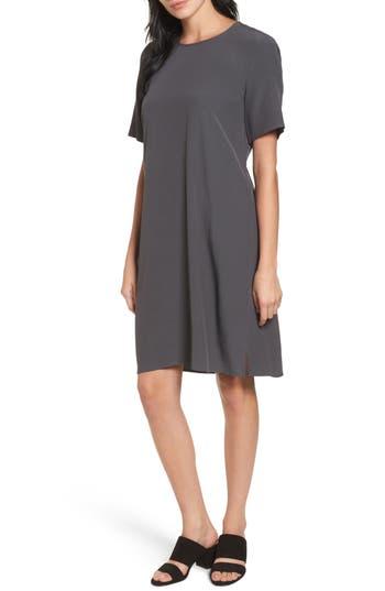 Eileen Fisher Tencel Blend Jersey Shift Dress, Brown